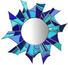 Stained Glass Mirrors : Picture This, Beautiful Jewellery and works of art from the edge of the Cotswolds Stained Glass Frames, Faux Stained Glass, Stained Glass Designs, Stained Glass Projects, Stained Glass Patterns, Mirror Mosaic, Mirror Art, Mosaic Glass, Glass Mirrors