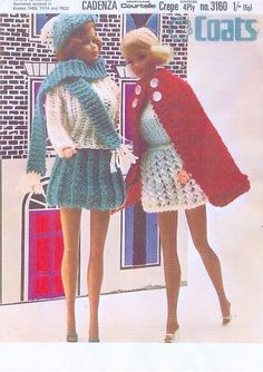Vintage Knitting Pattern FOR Sindy Barbie Doll Beautiful Outfits IN 4 PLY | eBay