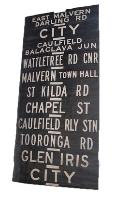 Original Melbourne tram destination rolls c. 1960s | availalbe from ...
