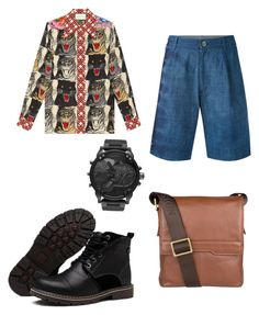 """""""Tren's outfit"""" by avalee-kelley on Polyvore featuring Gucci, Suzusan, Hidesign and Diesel"""