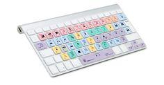 La funda para teclado LogicSkin Final Cut Pro X está diseñada con todos los accesos directos que necesitas usar para las nuevas funciones y los comandos clave de Final Cut Pro X.