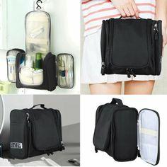 Waterproof Hanging Toiletry Bag Travel Cosmetic Kit Essentials Storage Organizer | eBay