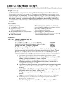 the best example summary for resume