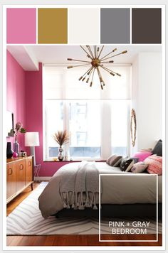 Motivation Monday | PINK + Gray Bedroom #stylyze #valentinesday
