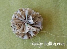Easy fabric flower