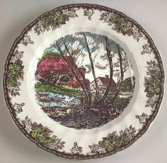 just purchased these Johnson Brothers Friendly Village dinnerware for tablescape thoughts? & Johnson Brothers Friendly Village Luncheon Plate Sugar Maples ...