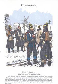Band XII #1.- Preußen: Linien-Infanterie. Musketiere im Winterfeldzuge 1864.