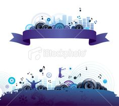Music banners Royalty Free Stock Vector Art Illustration