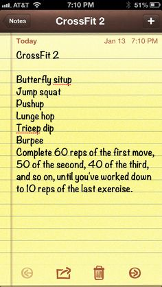 CrossFit Workout- no need for the gym, can do it at home.