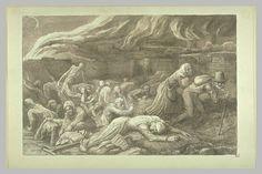 Le Triomphe de la Mort d'Alphonse Legros (1837-1911), dessin à la plume, à l'encre brune et au lavis brun, 35 x 50 cm, Musée du Louvre, Département des Arts Graphiques.