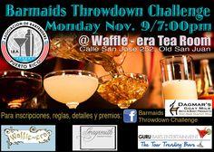 Barmaids Throwdown Challenge #sondeaquipr #prba #bartenderspr #barmaidsthrowdownchallenge #waffleratearoom #viejosanjuan #sanjuan