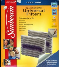 Sunbeam Cool Mist 2-Pack Humidifier Universal Filters