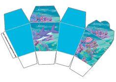 Cajitas imprimibles de Bajo el Mar.