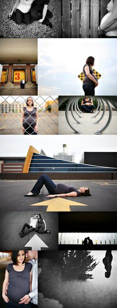 Such a creative urban maternity session
