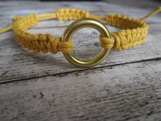 Yellow Bracelet Handmade by LaurusStyle on Etsy, $12.00