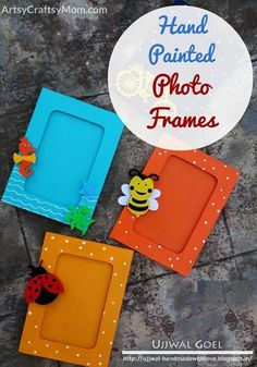 Everyone loves gifts, especially when they're handmade! This Friendship Day try out these lovely hand painted photo frames for your loved ones and friends! via /artsycraftsymom/ Kids Crafts, Craft Stick Crafts, Crafts To Make, Diy Gift Box, Diy Gifts, Handmade Gifts For Friends, Diy Box, Craft Gifts, Photo Frames For Kids