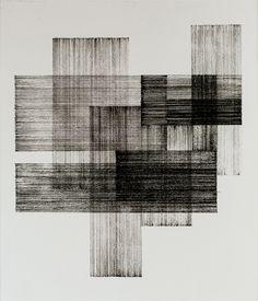 tssbnchn: Tássia Bianchini Crossroads - 2015 Ink on paper - 255 x 295 cm Modern Art, Contemporary Art, Modern Decor, Ouvrages D'art, Art Graphique, Art Plastique, Geometric Art, White Art, Mark Making