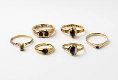 14th century gold rings, Europe