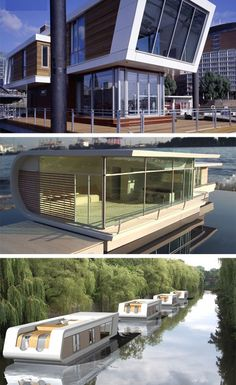 Necessity is the mother of invention and this case is no exception with Dutch designers stepping up to the challenge of creating modern floating homes suitable to more permanent living.