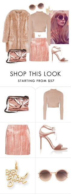 """""""Baby girl"""" by anna-razbitnova ❤ liked on Polyvore featuring Ina Kent, Jonathan Simkhai, Topshop Unique, Gianvito Rossi, Kevin Jewelers, Linda Farrow, women's clothing, women, female and woman"""