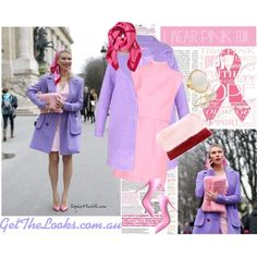 """""""GET Zhanna Bianca's Pink LOOK"""" by getthelooks on Polyvore LARGEL LAPEL COCOON COAT IN LILAC http://getthelooks.com.au/largel-lapel-cocoon-coat-in-lilac on eBay: http://cgi.ebay.com.au/ws/eBayISAPI.dll?ViewItem&item=181539482288&ssPageName=STRK:MESE:IT"""