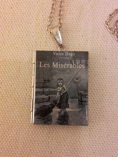 Les Miserables Book Locket -Pendant w/ Chain. $20.00, via Etsy.
