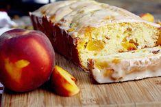 Peach Cake with Honey Cognac Icing
