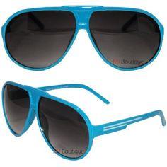 Fashion Color Turbo Sport Aviator Sunglasses Striped Lightweight - Blue . $3.49. Save 82%!