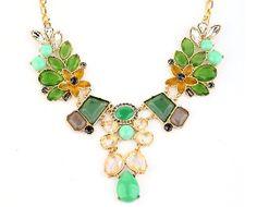 Bubble Necklace, Bib Necklace, Statement Necklace, Crystal Necklace, Chunky Necklace, Wedding Bubble Jewelry(N115)