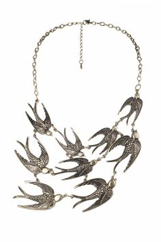 From Paris with Love! - 40s Swallows Come Follow Me! ketting goud