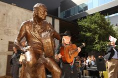 An eight-foot tall bronze statue of the Red-Headed Stranger was unveiled in front of ACL Live at 310 W. Willie Nelson Blvd in Downtown Austin on Friday, April 20, 2012.