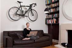 Hang your bike as art inside your house @Natacha Dawn  Awesome!