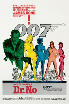 James Bond-Dr. No at Allposters.com at AllPosters.com.  No matter what else is on TV, if there is a Bond marathon on, that's the channel we're watching.