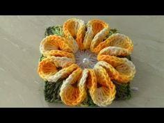 Incrível a Forma Mágica e inteligente de fazer Flor em Crochê,Queres Aprender? Cristina Coelho Alves - YouTube