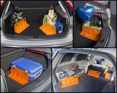 Stayhold — a device to keep things from shifting in your trunk. (You could probably build this with some wood or metal)