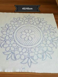Hand Embroidery Patterns Flowers, Crochet Edging Patterns, Cutwork Embroidery, Hand Embroidery Videos, Hand Work Embroidery, Lace Patterns, Hand Embroidery Designs, Crochet Motif, Embroidery Stitches