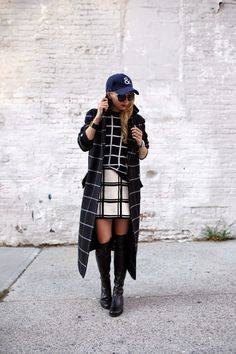 A baseball hat is the perfect accessory for blustery fall days. Wear a Gap baseball hat with a skirt and jacket like blogger Atlantic-Pacific, or pair it with jeans  and a tee for a more casual look.