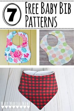 Any one of these free baby bib patterns would make an excellent bib to give for a new baby gift. #sewing #sewingprojects #diybabybib #babybibpattern