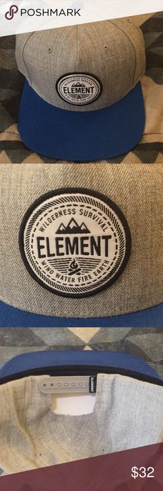 Men's Element (Wilderness Survival) Snapback In very good Condition!! Element Accessories Hats