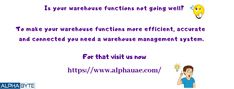 The best erp software company's brand with alphauae's Brand in Dubai, Abu Dhabi, UAE Warehouse Management System, Software, Technology, Tech, Tecnologia