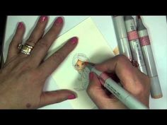 Marie shares a tutorial on coloring light skin tones with Copic markers.