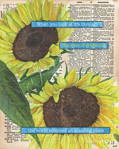 Painting - Sunflower Dictionary 2 by Debbie DeWitt