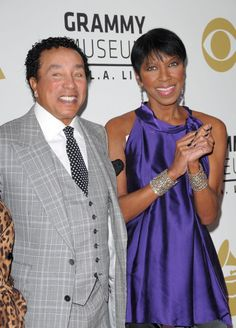 Natalie Cole and Smokey Robinson pose for photos at The GRAMMY Nominations Concert Live! held at Nokia Theatre on Dec. 03, 2008.