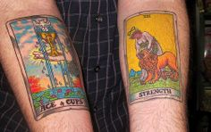 Ace of Cups \ Strength Rider-Waite-Smith Tarot Deck.  This was done by Andrew Snowden at Body Manipulations in San Francisco   | Flickr - Photo Sharing!