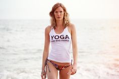 YFBP Black Logo Tank | Yoga For Bad People