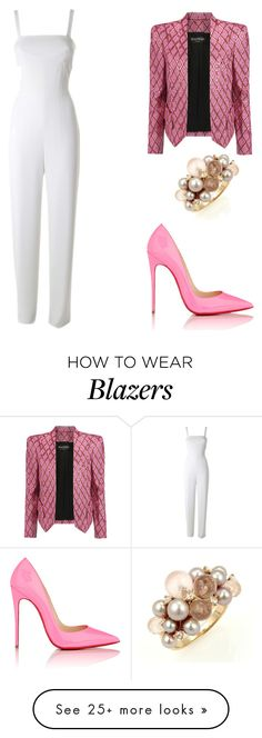 """Trending 935"" by ayannap on Polyvore featuring Balmain, Christian Louboutin, Mimí and T By Alexander Wang"