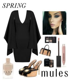 """""""Spring Mules"""" by kotnourka ❤ liked on Polyvore featuring Dolce&Gabbana, Burberry, NARS Cosmetics, Fendi and Christian Dior"""