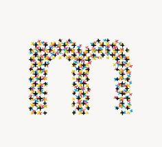 Handprinted Alphabet - Evelin Kasikov – CMYK embroidery and Typographic Design – London