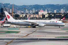 Air China Dreamliner at LAX on September 25, 2017.