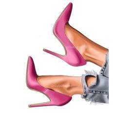 Fashion Design Drawings, Fashion Sketches, Fashion Illustration Shoes, Fashion Wall Art, Shoe Art, Lady, Designer Shoes, Ideias Fashion, Stiletto Heels